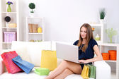 Conceptual photo of on line shopping — Stock Photo