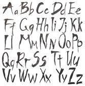 Alphabet watercolors isolated on white — Stock Photo