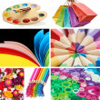 Stock Photo: Collage of photos in rainbow colors