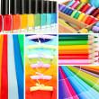 Foto de Stock  : Collage of photos in rainbow colors