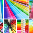 Foto Stock: Collage of photos in rainbow colors