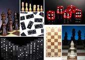 Collage de jeux intelligents — Stockfoto