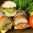 Fresh and tasty sandwich close up — Stock Photo #41855249