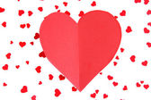 Paper heart on bright background — Stock Photo