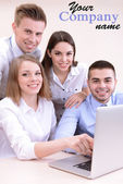 Successful young businesspeople working at office — Stock Photo