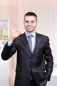 Business man at office — Stock Photo