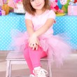 Pretty little girl celebrate her birthday — Stock Photo #41891437