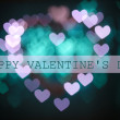 Stock Photo: Bright heart bokeh background