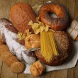 Stock Photo: Bakery products on wooden table
