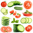 Collage of vegetables isolated on white — Stock Photo #42019029