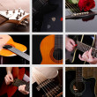 Musical collage. Guitar — Stock Photo #42019151