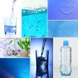 Stock Photo: Collage of mineral water