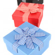 Gift boxes isolated on white — Stock Photo #42228807
