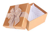 Open gift box isolated on white — Stock Photo
