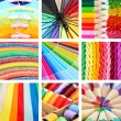 Collage of photos in rainbow colors — Stock Photo #42325551