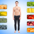 Collage of the most useful foods for human — Stock Photo