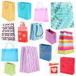 Stock Photo: Colorful shopping bags isolated on white