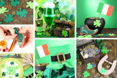 Patrick's Day collage — Stock Photo