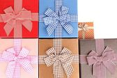Gift boxes close up — Stock Photo