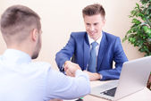 Interview met sollicitant — Stockfoto