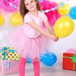 Pretty little girl celebrate her birthday — Stock Photo #42508851