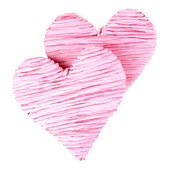 Decorative heart isolated on white — Stockfoto