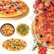 Collage of various pizza isolated on white — Stock Photo #42754453