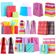 Colorful shopping bags isolated on white — Stock Photo #42754645