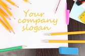 Arbeitsplatz designer hautnah — Stockfoto