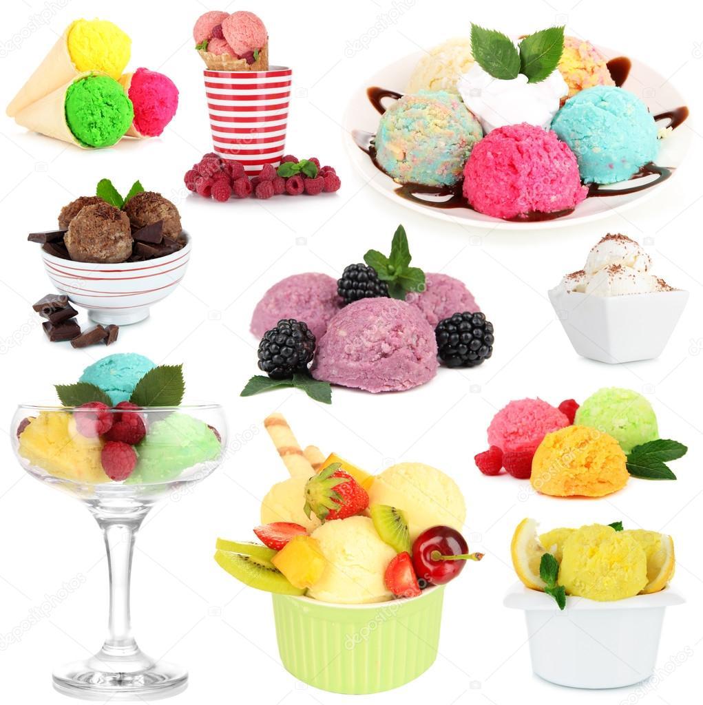Collage di diversi tipi di gelato foto stock belchonock 42754717 - Diversi tipi di figa ...