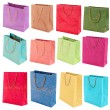 Colorful shopping bags isolated on white — Stock Photo #42767117