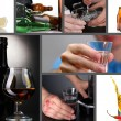 Collage of alcoholism close-up — Stock Photo #42767345