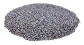 Poppy seeds isolated on white — Stock Photo