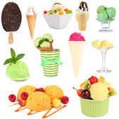 Collage of different sorts ice-cream — Stock Photo