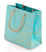 Color shopping bag, isolated on white — Stock Photo