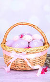 Beautiful Easter composition on wooden table — Foto Stock