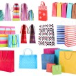 Colorful shopping bags isolated on white — Stock Photo #42891731