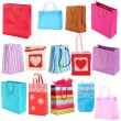 Colorful shopping bags isolated on white — Stock Photo #42891769