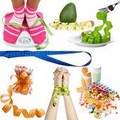 Pojęcie diety na białym tle — Zdjęcie stockowe