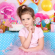 Pretty little girl celebrate her birthday — Stock Photo #42952939