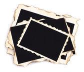 Puste stare zdjęcia na białym tle — Zdjęcie stockowe