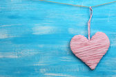 Decorative heart on wooden background — Stockfoto