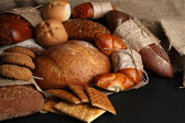 Different types of bread close up — Stock Photo