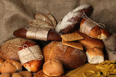 Tasty flour products close up — Stock Photo