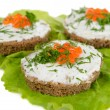 Delicious canapes close-up — Stock Photo