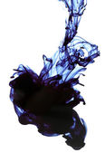 Ink in water isolated on white — Stock Photo