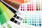 Color samples close up — Stock Photo
