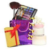 Beauty set gift isolated on white — Stock Photo