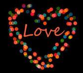 Bright heart bokeh background — Stock Photo