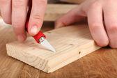 Wood carving tools close up — Foto Stock